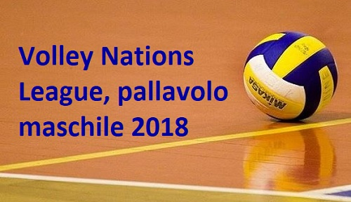 Calendario Volley Maschile.Volley Nations League 2018 Calendario Pallavolo Maschile