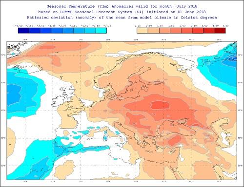 Tendenza meteo luglio 2018 - effis.jrc.ec.europa.eu