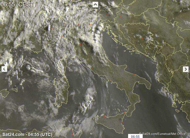 Temporali anche intensi al Nord, più stabile al Centro-Sud - sat24.com