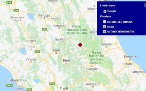 Terremoto oggi Lazio 12 giugno 2018, scossa M 2.0 provincia di Rieti - Dati Ingv