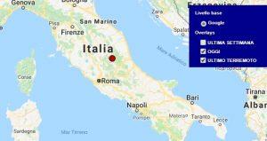 Terremoto oggi Marche 13 giugno 2018, scossa M 2.5 provincia di Macerata - Dati Ingv