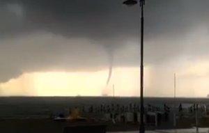 Maltempo Sicilia e Calabria con temporali e trombe marine - foto Maycol Checchinato