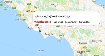 Terremoto oggi, scossa nel Lazio