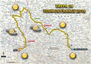 Tour de France 2018, previsioni meteo 18^ tappa
