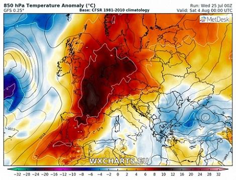 Ondata Di Caldo In Europa Temperature Ben Oltre La Media In Francia