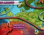 Caldo africano con l'inizio di agosto, temperature e afa in aumento