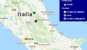 Terremoto oggi Lazio 8 agosto 2018, scossa M 2.2 provincia di Rieti - Dati Ingv