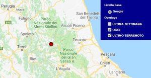 Terremoto oggi Lazio, 9 agosto 2018, scossa M 2.0 provincia di Rieti - Dati Ingv