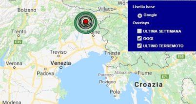 Terremoto friuli venezia giulia oggi e ultimi 7 giorni for Eventi oggi fvg