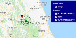 Terremoto oggi Marche 12 settembre 2018, scossa M 2.2 provincia di Macerata - Dati Ingv