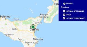 Terremoto oggi Sicilia 13 settembre 2018, scossa M 2.4 provincia di Catania - Dati Ingv