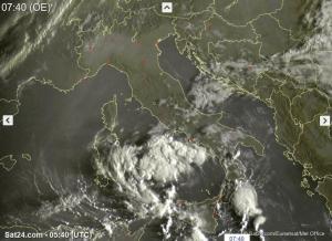 Tempo instabile specie al Sud Italia con temporali anche intensi - sat24.com