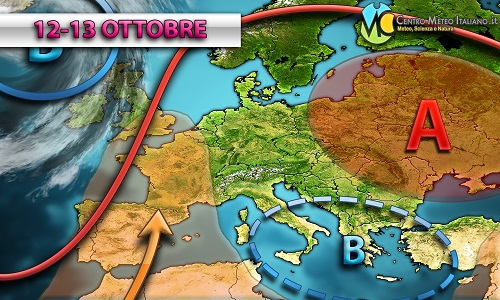 PREVISIONI METEO: severo maltempo sulle regioni occidentali dell' Italia con possibili nubifragi