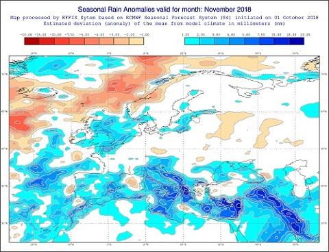 Mese di novembre 2018 piovoso secondo il modello ECMWF in Italia - effis.jrc.ec.europa.eu.jpg