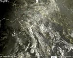 Tempo instabile oggi sull'Italia con molte nuvole e piogge sparse - sat24.com
