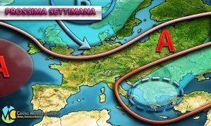 METEO PROSSIMA SETTIMANA: possibile cambio di circolazione anche in Italia e temperature in sensibile calo