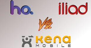 Iliad Vs. Kena Mobile Vs. Ho Mobile