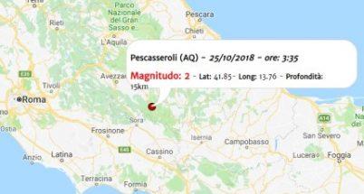 Terremoto oggi, le scosse registrate in Italia