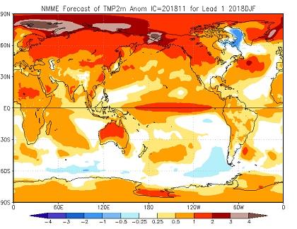 Tendenza meteo inverno 2018-2019 - cpc.ncep.noaa.gov