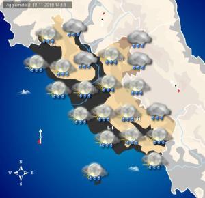 Peggioramento meteo in arrivo sul Lazio