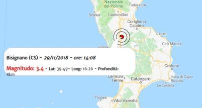 Terremoto oggi, scossa in Calabria