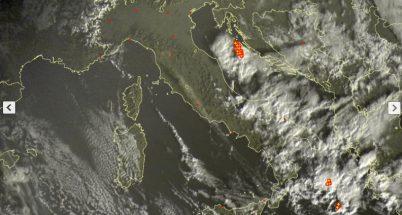 Aria fredda sull'Italia con locali fenomeni al Sud - sat24.com