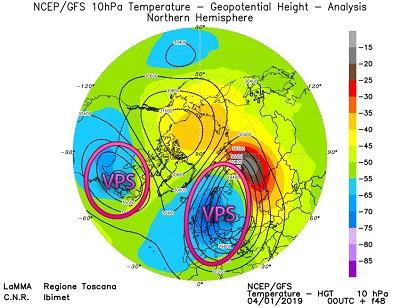 Il vortice polare stratosferico si divide in due - lamma.rete.toscana.it