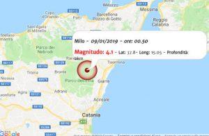 Terremoto Sicilia 9 gennaio 2018