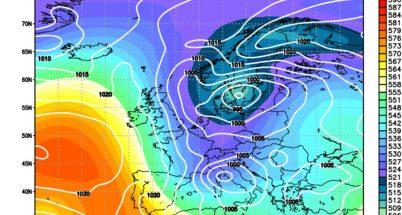 Maltempo invernale con nuovi impulsi freddi da nord