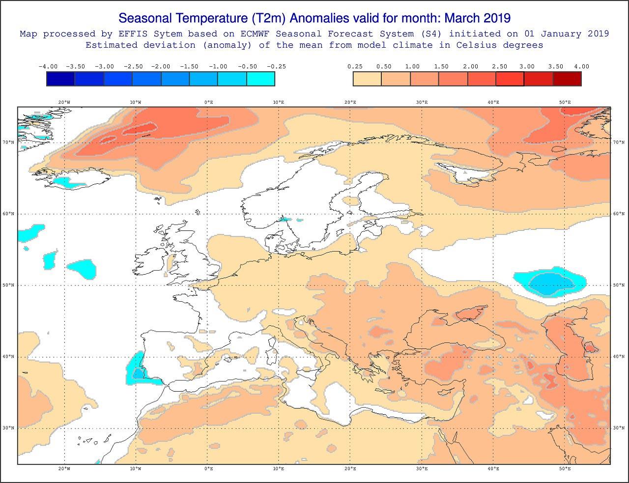 Anomalie di temperatura previste dal modello ECMWF per l'inizio della primavera - effis.jrc.ec.europa.eu.jpg