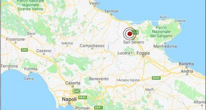 terremoto puglia 31 gennaio 2019