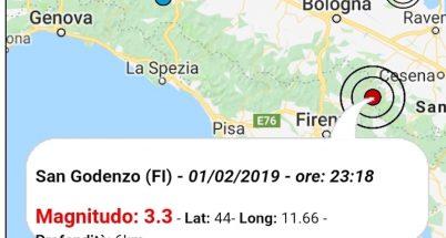 terremoto oggi 1 febbraio 2019 toscana