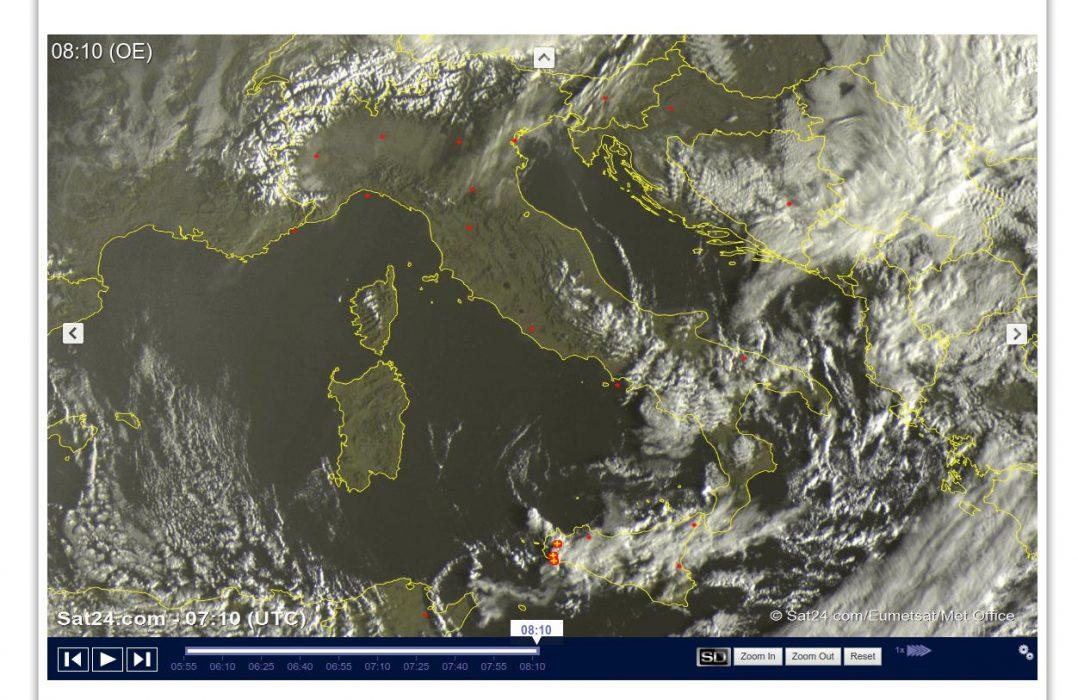Piogge, temporali e neve al Sud, sole prevalente altrove - sat24.com