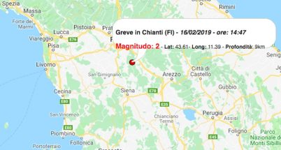 terremoto oggi toscana 16 febbraio 2019