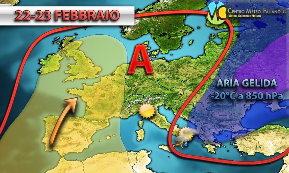 Freddo e neve sull' Italia meridionale