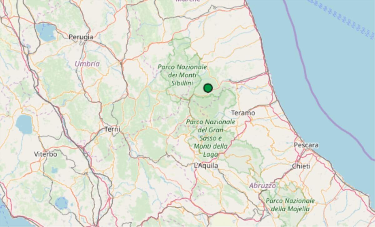 Terremoto oggi Marche 28 febbraio 2019, scossa M 2.1 ...