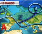 Diverse fasi di maltempo in settimana con fronti da nord-ovest, ecco la tendenza meteo