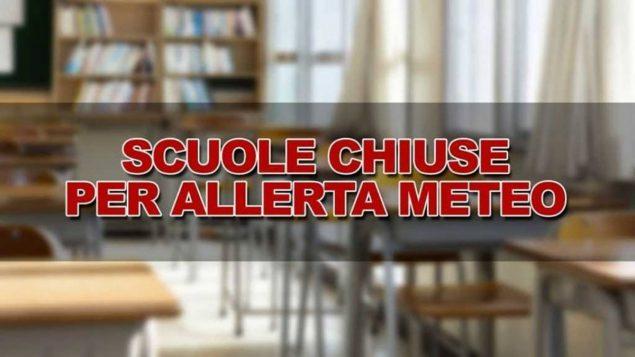 Allerta meteo, scuole chiuse