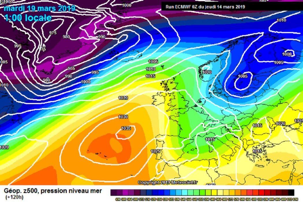 Nuovo peggioramento meteo per il modello ECMWF durante la prossima settimana - meteociel.fr