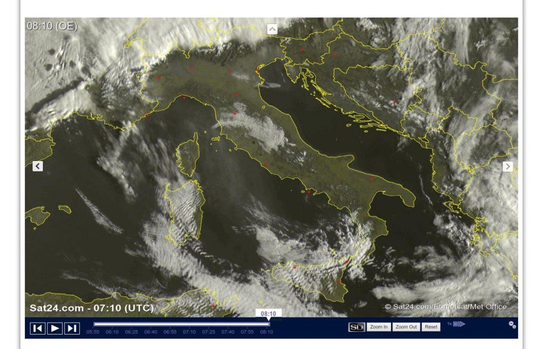 Sole prevalente ma ancora qualche pioggia al Sud - sat24.com