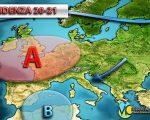 Anticiclone in rimonta sull'Europa forse fino alla fine di marzo