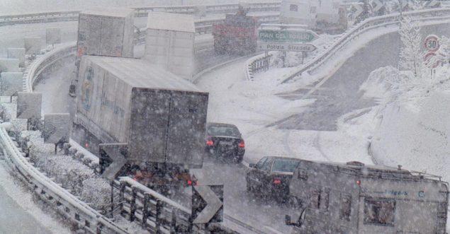 Neve e nubifragi in Italia