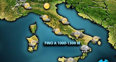 Maltempo sud Italia. Previsione per il 27 marzo 2019.