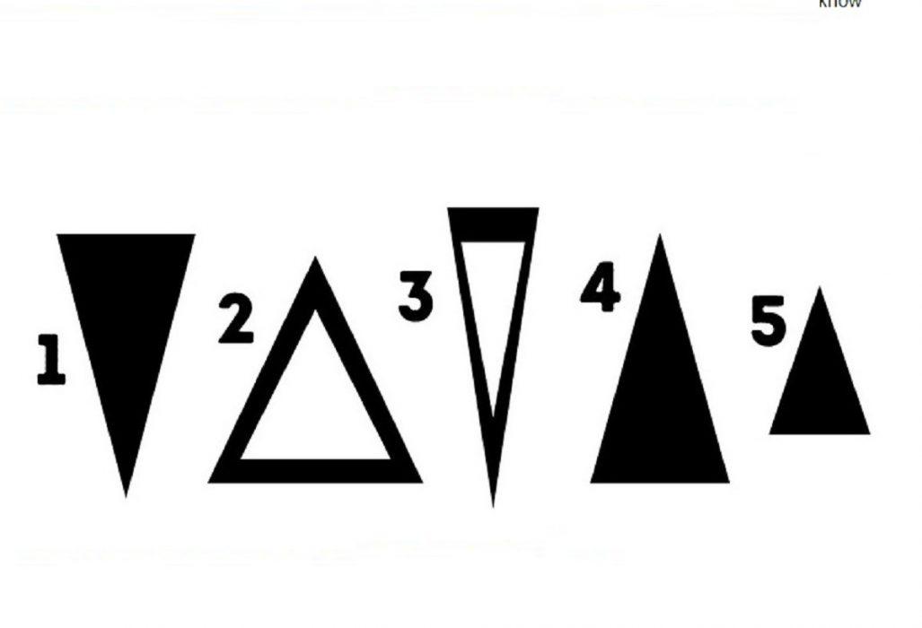 Test Di Psicologia Scegli Il Triangolo E Scopri La Tua Personalita