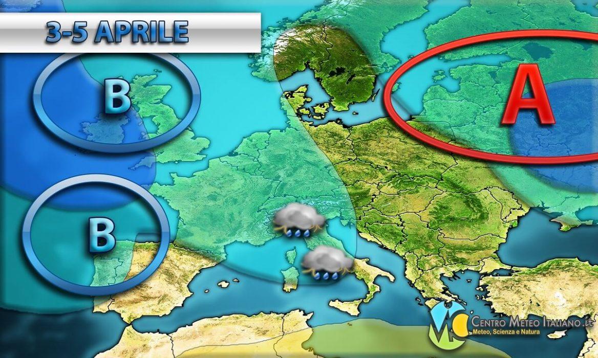 Tempo previsto in Italia per i prossimi giorni della settimana in corso.
