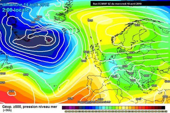 Aria fredda verso l'Europa secondo il modello ECMWF - meteociel.fr
