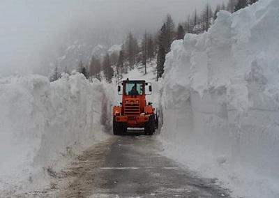 Neve sul passo Gardena, foto Salamandra Bolzano