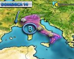 Irruzione di aria fredda prevista al nord Italia per la giornata di Domenica, neve in arrivo.