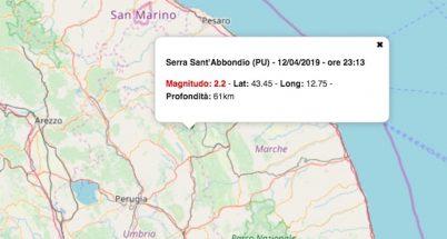 terremoto oggi marche 12 aprile 2019