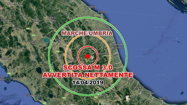 Terremoto Macerata 14 aprile 2019